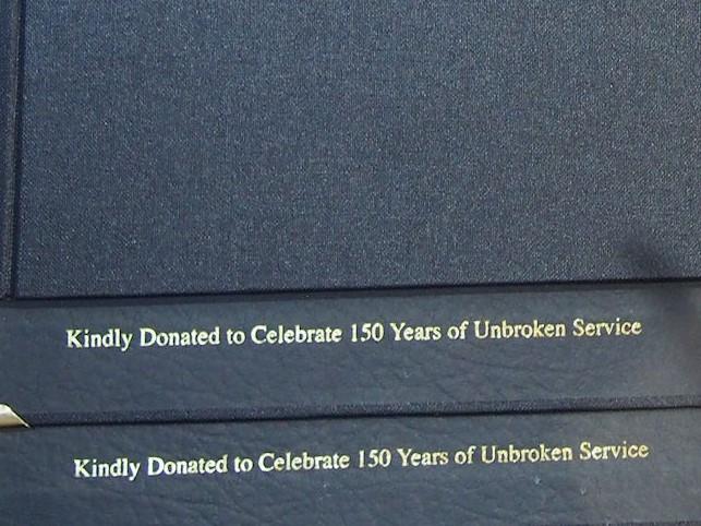 Dedication on Choir Folder